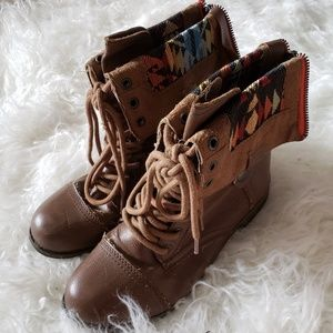 Rampage Aztec Flap Boots